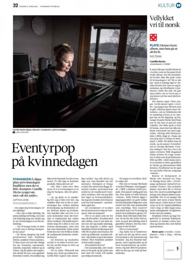 Anmeldelse av Linedanser - Stavanger Aftenblad